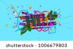 abstract colorful trendy... | Shutterstock . vector #1006679803