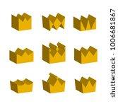 golden crowns three dimensional ... | Shutterstock .eps vector #1006681867