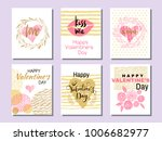 set of beautiful greeting cards ...   Shutterstock .eps vector #1006682977