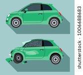 normal and broken car  | Shutterstock .eps vector #1006688683