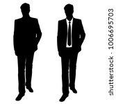 vector silhouette of man ... | Shutterstock .eps vector #1006695703