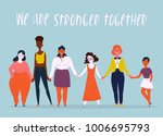 diverse international and... | Shutterstock .eps vector #1006695793