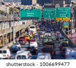 rush hour traffic jam on the... | Shutterstock . vector #1006699477