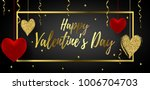 happy valentine's day poster... | Shutterstock .eps vector #1006704703