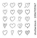 big collection of hand drawn... | Shutterstock .eps vector #1006705567
