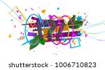 wonderful 3d composition with... | Shutterstock . vector #1006710823