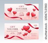 vector set of elegant gift... | Shutterstock .eps vector #1006713583