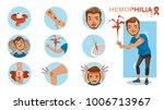 hemophilia symptom infographics ...   Shutterstock .eps vector #1006713967