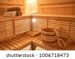 wooden sauna  wet area  steam ...   Shutterstock . vector #1006718473