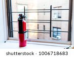 small apartment red fire... | Shutterstock . vector #1006718683