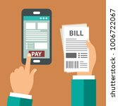 mobile payment concept. pay... | Shutterstock .eps vector #1006722067