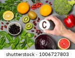 food rich in vitamin c. various ... | Shutterstock . vector #1006727803