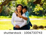 mother and son outdoor...   Shutterstock . vector #1006733743