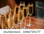 rows of champagne and wine...   Shutterstock . vector #1006735177