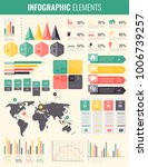 infographic elements with world ... | Shutterstock .eps vector #1006739257