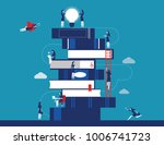 people and book. business... | Shutterstock .eps vector #1006741723