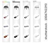 musical instrument cartoon...   Shutterstock .eps vector #1006742293