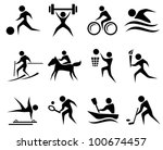 sport icon set | Shutterstock .eps vector #100674457