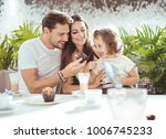 happy young people having fun... | Shutterstock . vector #1006745233