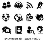 social network icon set | Shutterstock .eps vector #100674577