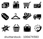 shopping icon set   Shutterstock .eps vector #100674583