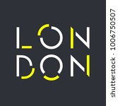 london typography  t shirt... | Shutterstock .eps vector #1006750507