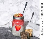 layered chia pudding and... | Shutterstock . vector #1006753003