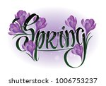 spring calligraphy with violet... | Shutterstock .eps vector #1006753237