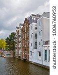 residential houses along one of ... | Shutterstock . vector #1006760953