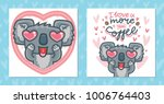 set of greeting cards with... | Shutterstock .eps vector #1006764403