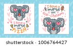 set of greeting cards with... | Shutterstock .eps vector #1006764427