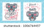set of greeting cards with... | Shutterstock .eps vector #1006764457