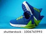 shop display of new sneakers... | Shutterstock . vector #1006765993