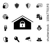 home lock icon. set of...   Shutterstock .eps vector #1006770193