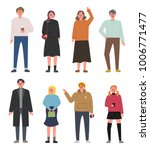 hand drawn style people... | Shutterstock .eps vector #1006771477
