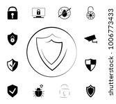 logo shield icon icon. set of... | Shutterstock .eps vector #1006773433