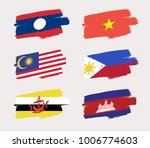 set of world flags in grunge... | Shutterstock .eps vector #1006774603