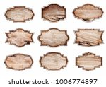 wood sign isolated on white... | Shutterstock . vector #1006774897