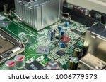 closeup of computer chips | Shutterstock . vector #1006779373