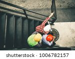engineer pointing orders for... | Shutterstock . vector #1006782157