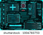 hud  for the medical... | Shutterstock .eps vector #1006783753