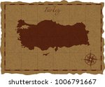 ancient map with turkey... | Shutterstock .eps vector #1006791667