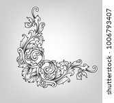 vintage baroque victorian frame ... | Shutterstock .eps vector #1006793407