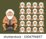 caveman family grandpa cartoon... | Shutterstock .eps vector #1006796857