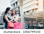 fashion shopping concept  ... | Shutterstock . vector #1006799143