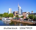 View of the skyline of Frankfurt, Germany - stock photo