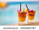 hawaii mai tai drinks on... | Shutterstock . vector #1006800787