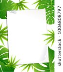 exotic tropical leaf background ... | Shutterstock .eps vector #1006808797