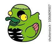 cartoon zombie rubber duck   Shutterstock .eps vector #1006809007