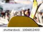 snowboad and ski waiting for... | Shutterstock . vector #1006812403